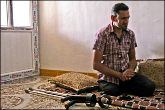 Abdelillah during a psychosocial support session.