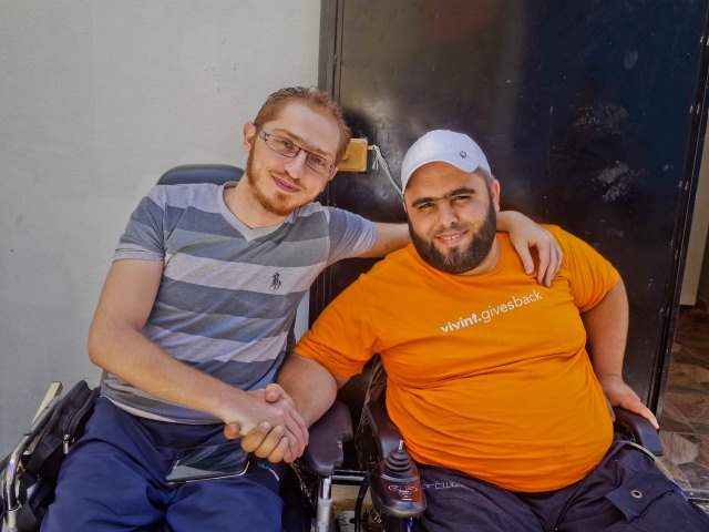 Mohammad and Ayman, two inseparable friends.