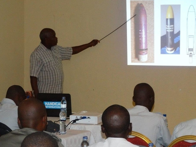 Training a local police force in Mozambique.