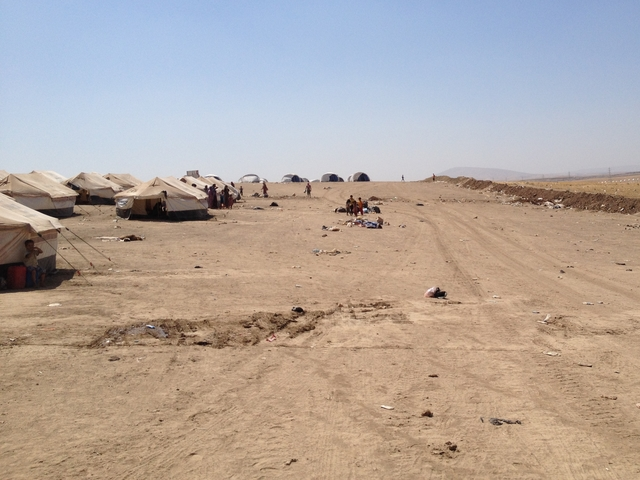 Camp for internally displaced persons in Iraq.
