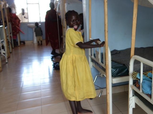 A Monica is now back on her feet after both her legs were paralysed. South Sudan.