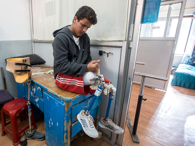 Ramesh, 19, lost both his legs in the 2015 Nepal earthquake