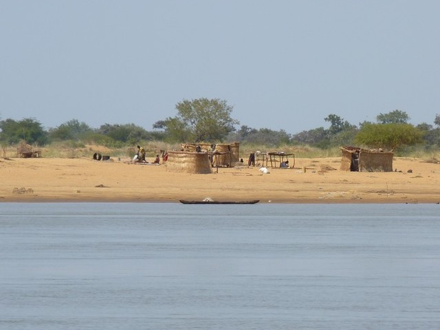 A a river in Moyen-Charir that the ERW surveyors had to cross. Chad.
