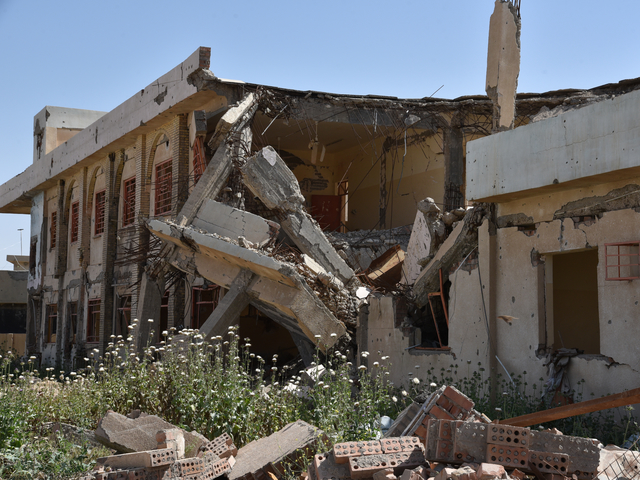Facility destroyed during combat in Iraq