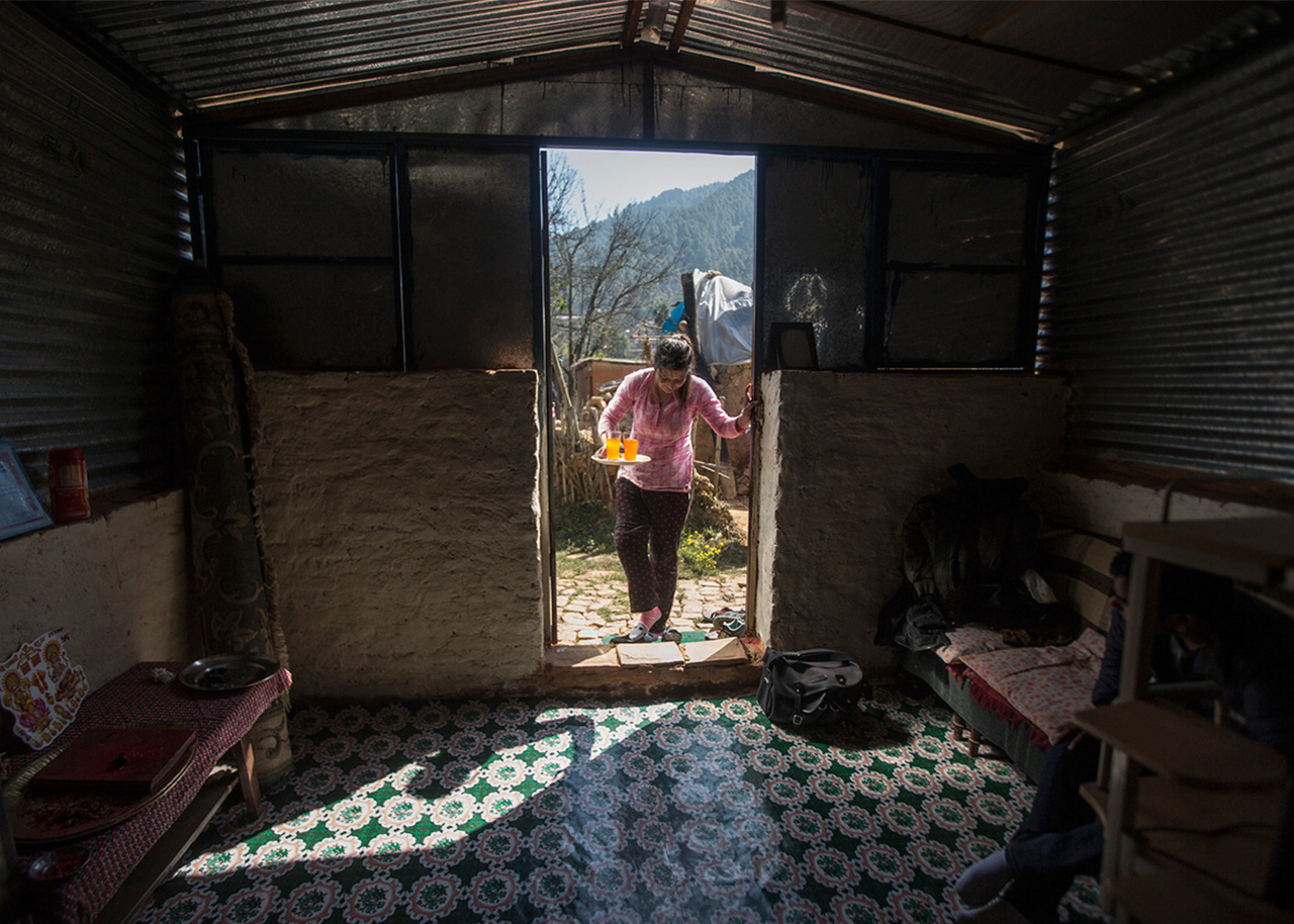 Uma chose to keep her disability a secret and disguised her limp with the excuse she had damaged her leg in the earthquake
