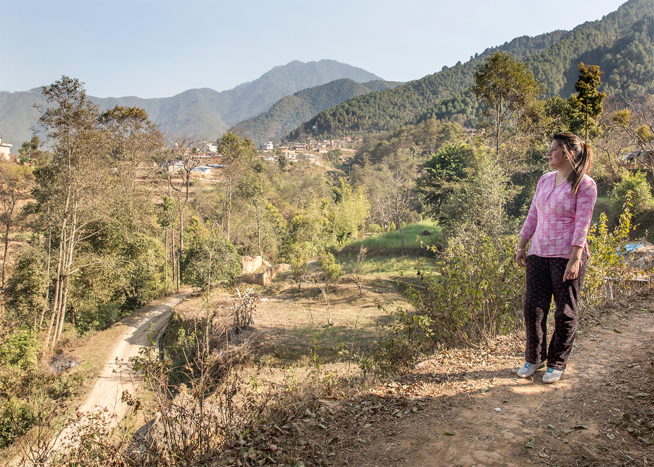 Uma Silwal, 18 lives in a village called Godawari, high about the city in the Kathmandu Valley
