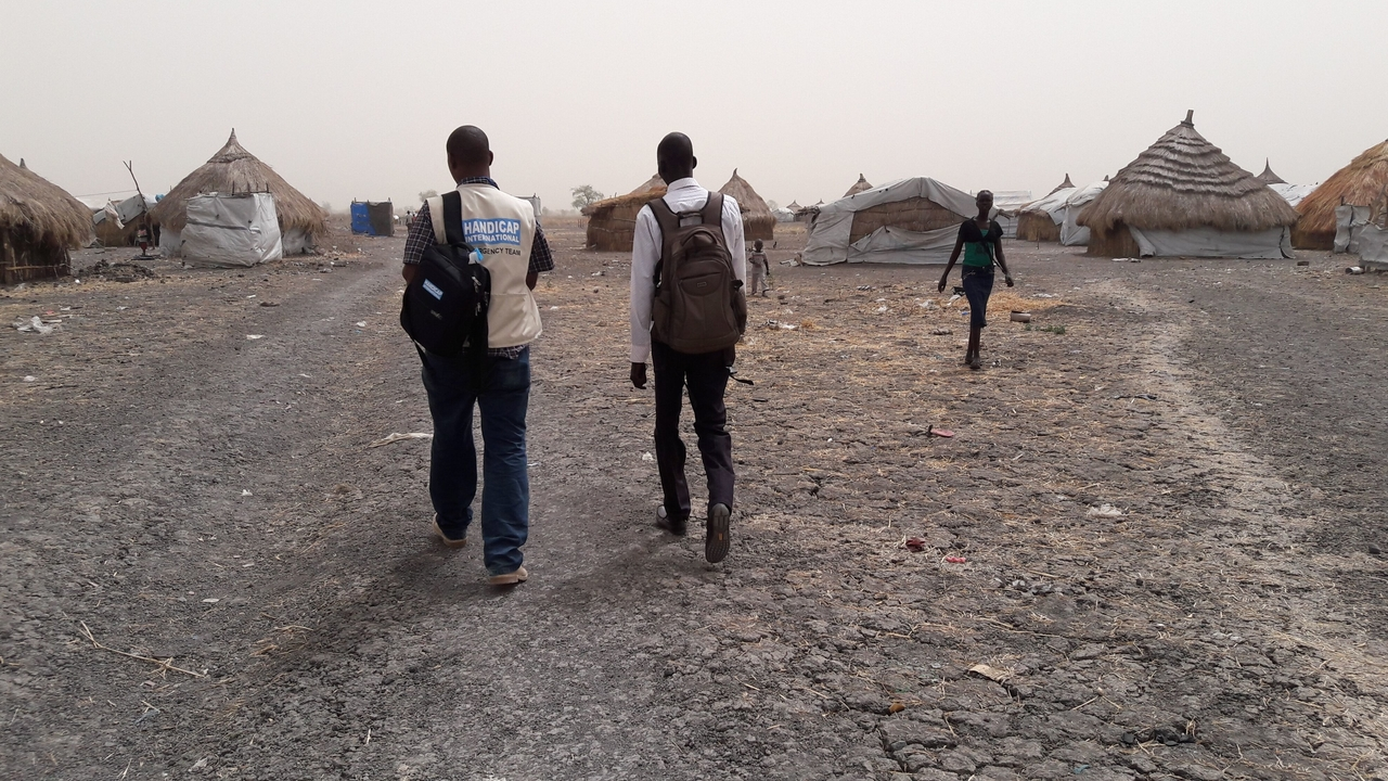 A Handicap International team in Melut in the north of South Sudan at the end of 2015.