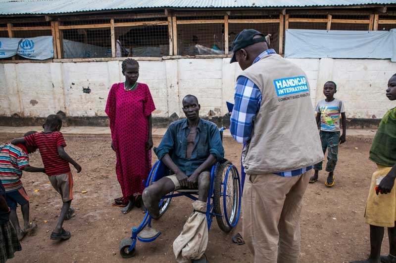 Ajeu meeting Handicap International's team in Kakuma