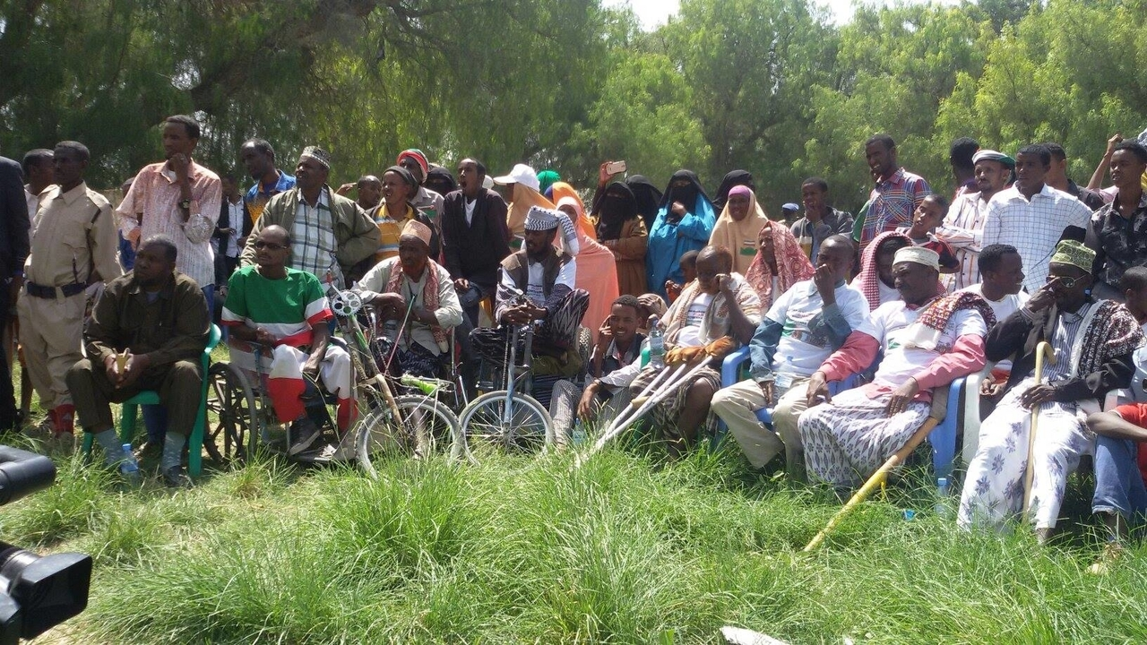 A group of people with disabilities at a civic education course.