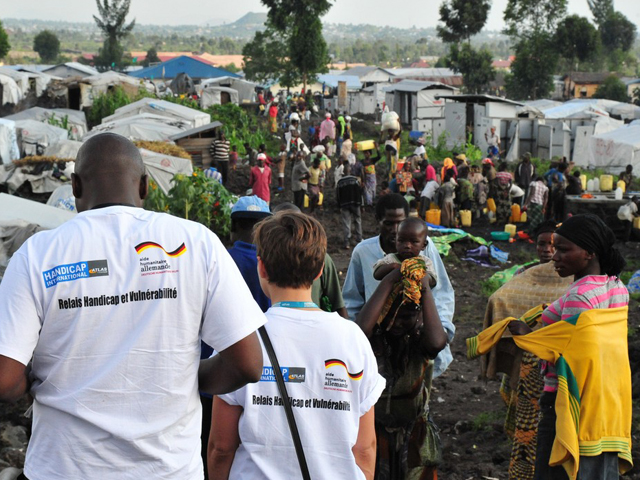 Camp for internally displaced persons in DR Congo.