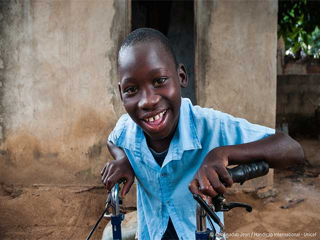 Ilídio, 11, from Mozambique, loves going to school and dreams of driving a car one day.  He now speaks two languages but it is not so long ago that he couldn't speak at all and had only limited mobility.