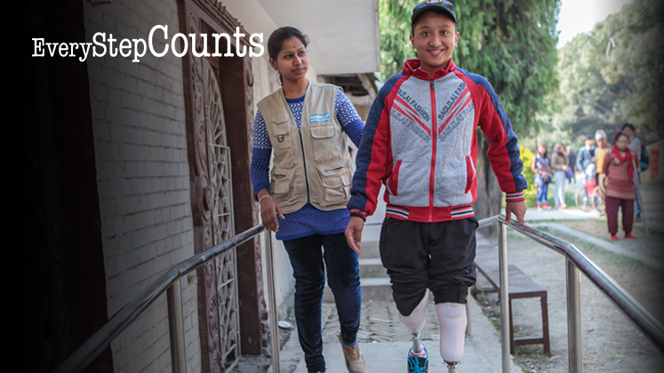 Every Step Counts - Help a child like Sandesh