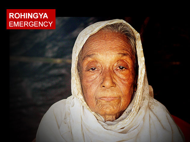 A Rohingya grandmother