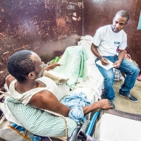 Handicap International's teams are working with injured people in Les Cayes, after the hurricane hit Haiti last week.