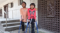 Nirmala and Khendo at the National Disabled Fund rehabilitation centre