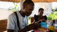 Pearls workshop, occupational therapy session at the Mental Health Centre in Lomé, Togo.