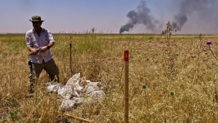 Handicap International's demining expert, Simon Elmont, coordinates the organisation's efforts to protect civilians from explosive remnants of war in Iraq.