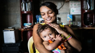 Irma with her daughter Maria Angel, Colombia.