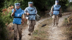 Handicap International deminers in Lebanon.