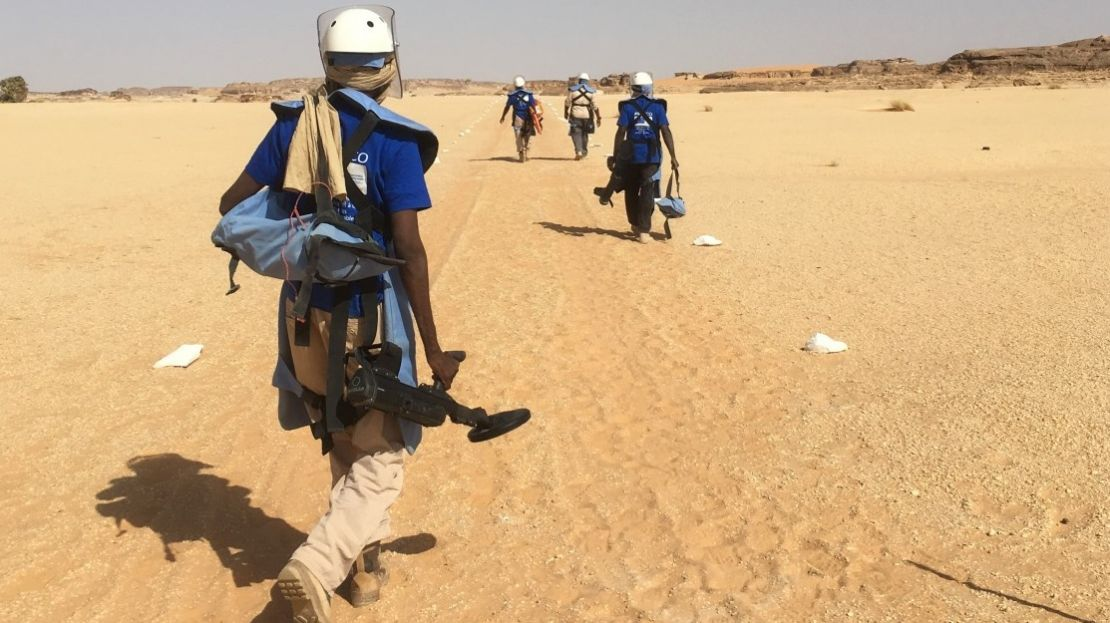 Demining operations in Chad