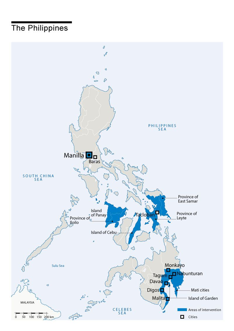 Map of Humanity & Inclusion's interventions in Philippines
