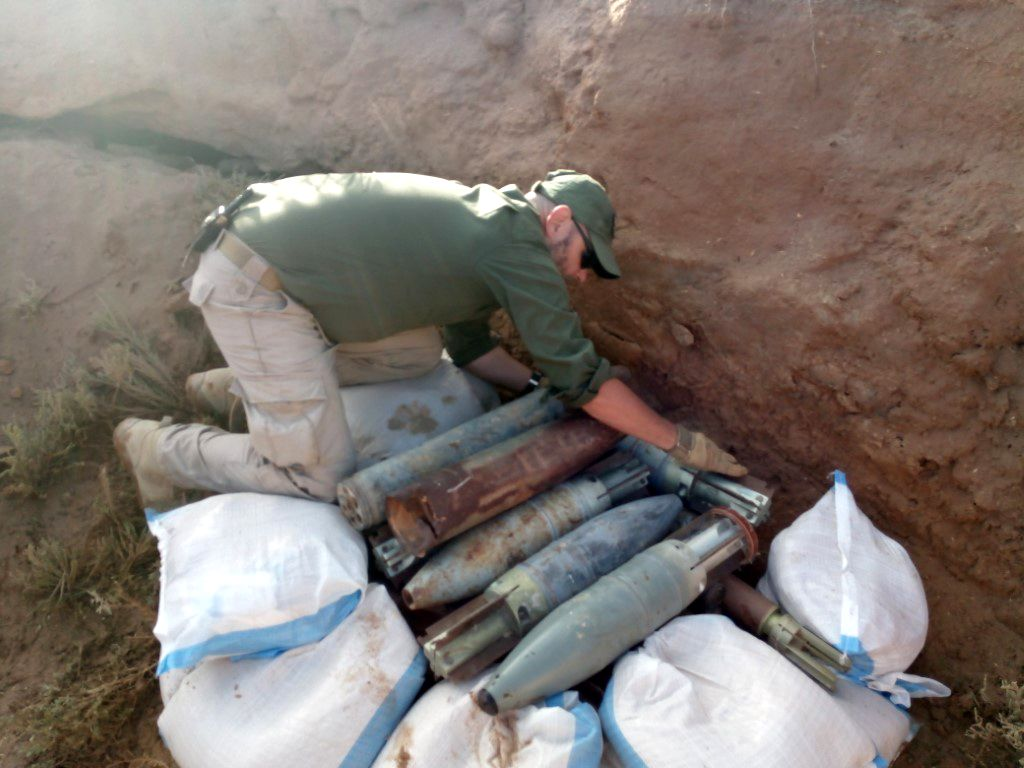 Simon Elmont prepares to destroy the weapons collected by his team, Libya.