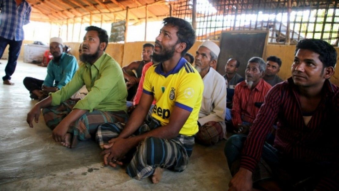 "Awareness session to inform men about ""responsible"" fatherhood in Cox's Bazar refugee camps"