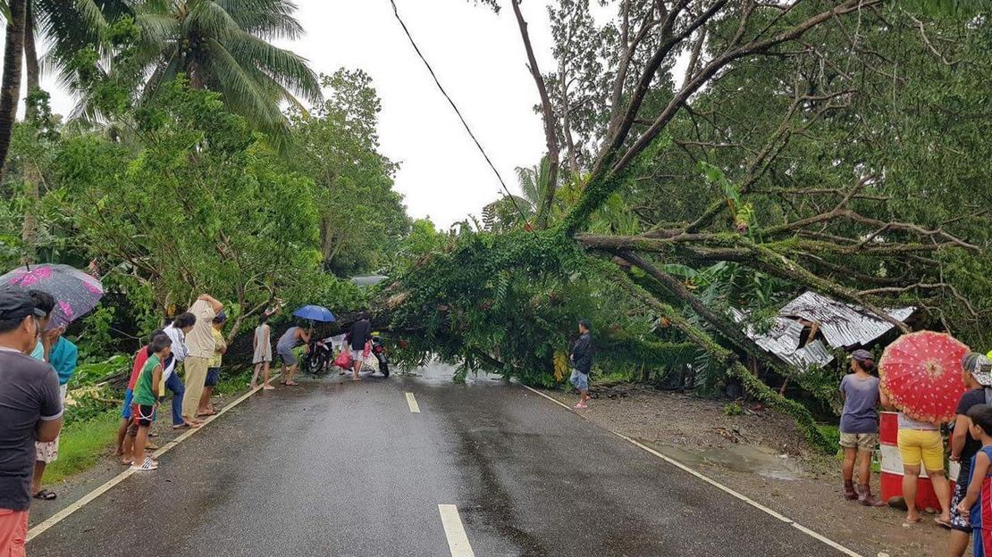 Consequences of typhon Mangkhut in Visayas