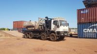 The GCS 100 Explosive Ordnance Disposal (EOD) platform, which left Germany in August 2018, arrived in Chad last December. Once authorisation had been received, it was transported by lorry to Faya.