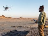 Drone testing during a mine clearance operation with partner Mobility Robotics