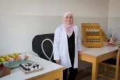 Sina, occupational therapist at the Basma hospital rehabilitation centre