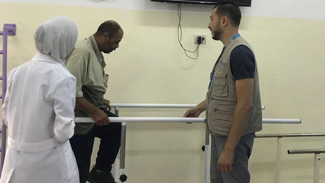 Abdelrazzaq gains his mobility back thanks to HI physiothrapists