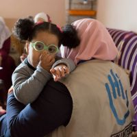 Safa, 2, starts to walk again thanks to rehabilitation care