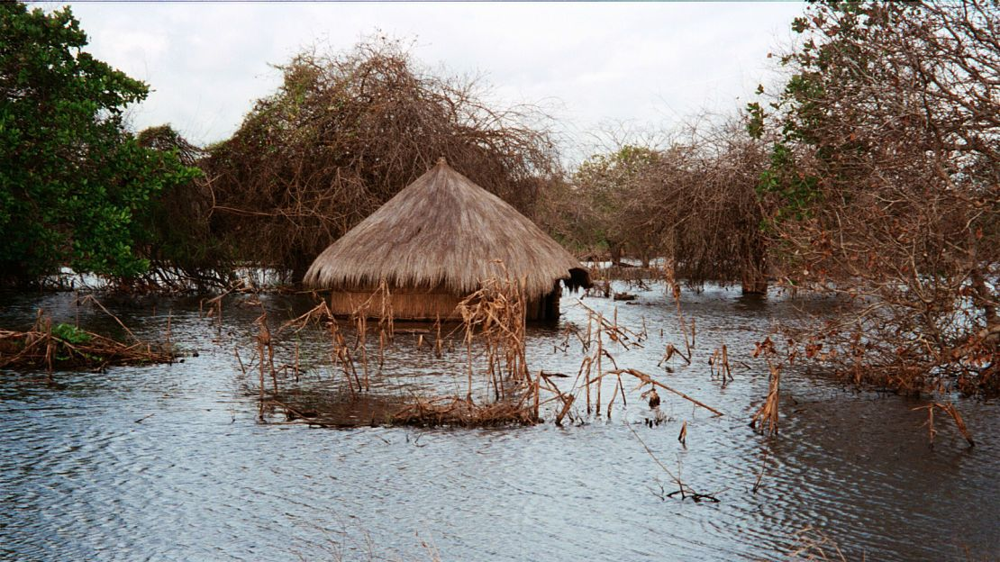 ARCHIVE IMAGE : floodings in Mozambique in January 2000.
