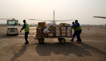 Aid by air in Central African Republic