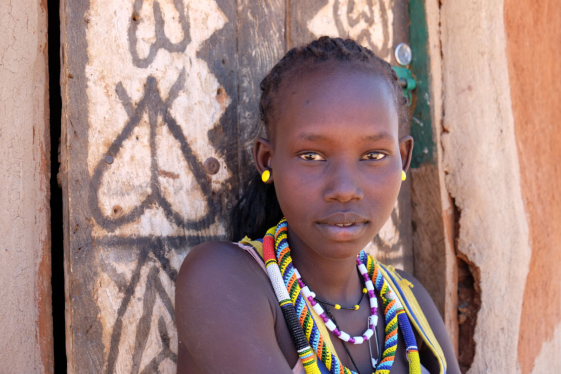 Young girl in Kenya