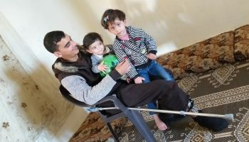 Ihab is still recovering from injuries but COVID19 disrupts the assistance he needs