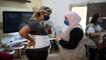 Beirut: Nour, injured in the explosions, received support from HI's teams