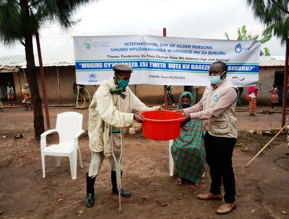 International Day of Older Persons organized by HI and partners in refugees camp of Kigeme, in Rwanda