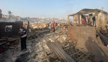 A devastating fire in Freetown leaves thousands homeless and in shock