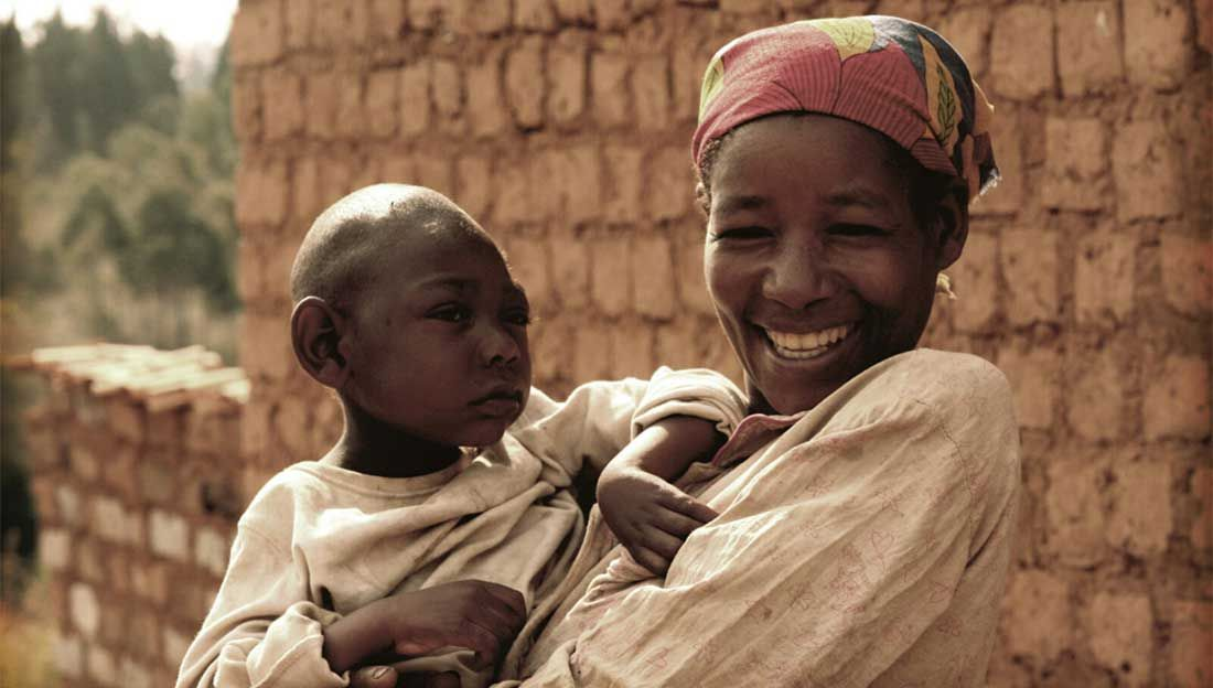Sadock and his mother, Burundi
