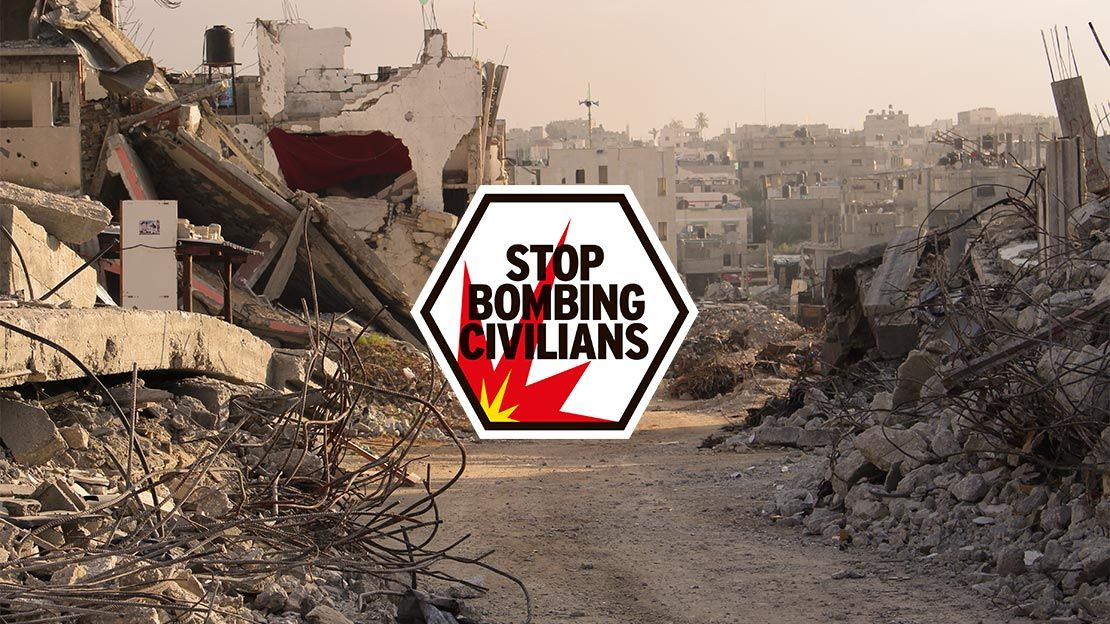 Stop Bombing Civilians logo