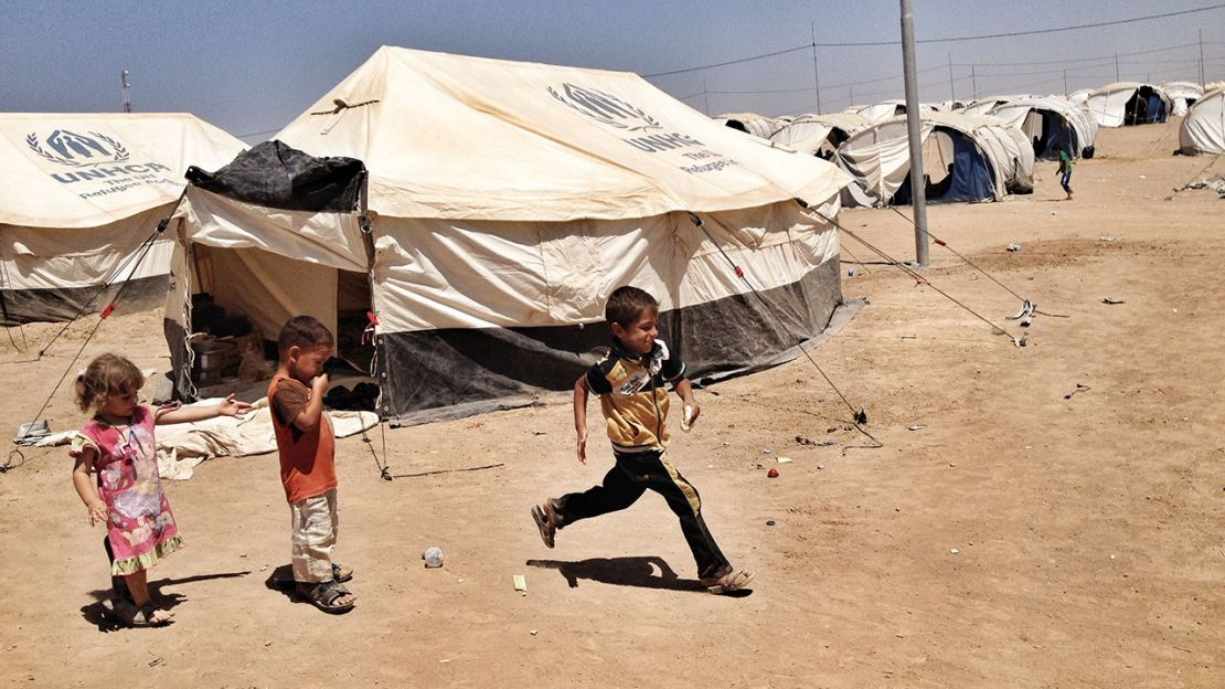 Children in Khazir camp, Iraq - HI