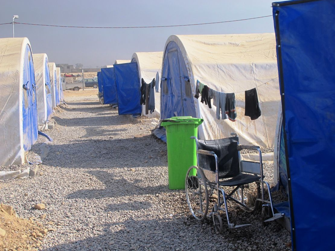 Camp for displaced people south of Mosul