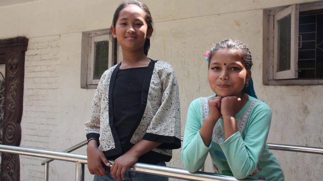 Since they met at the hospital after the earthquake, Nirmala and Khendo have been best friends.
