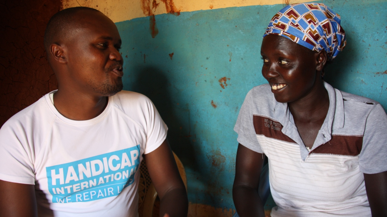 Christine, 32, is one of Handicap International's community peace representatives in Western Kenya.