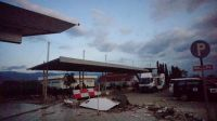 Damage in Palu city centre, Sulawesi.; }}