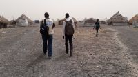A Handicap International team in Melut in the north of South Sudan at the end of 2015.; }}