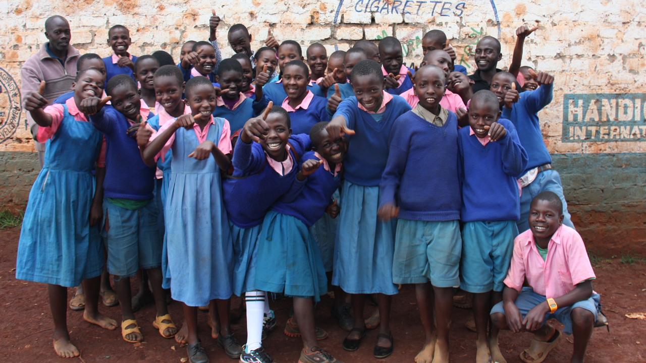 These school children in northern Kenya take part in anti-sexual violence activities every Wednesday.