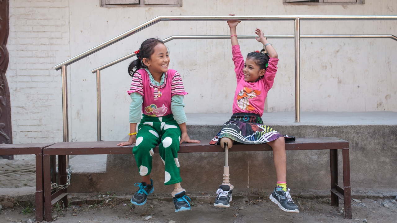 Nirmala and Khembro both lost their legs in the earthquake.